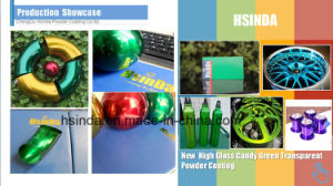 New High Gloss Candy Green Transparent Powder Coating pictures & photos