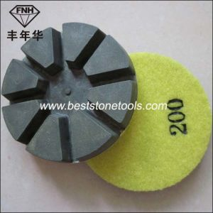 Cr-33 Floor Resin Polishing Diamond Pad with 8 Pie
