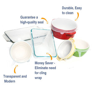 Reusable Stretch Lids Cover for Cans, Containers, Mugs, Jars and Bowls pictures & photos