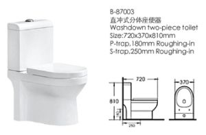 Sanitary Ware Washdown Two Piece Toilet (87001) pictures & photos
