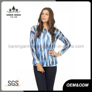 Blue Striped Camouflage Jumper for Women pictures & photos
