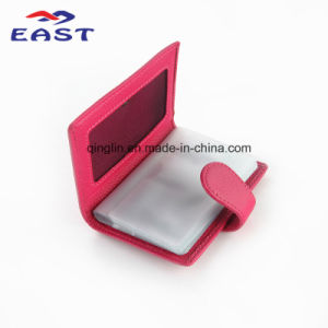 High Quality Promomtional Lady′s PU Business Card Package pictures & photos