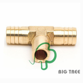 Brass Tee Union Hose Barb Fitting pictures & photos
