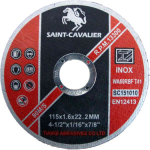 Thin Cutting Disk for Stainless Steel /Metal 115X1.6X22.2 pictures & photos