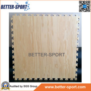 Interlocking EVA Foam Mat in Wood Grain Color, Wood Color EVA Puzzle Mat pictures & photos