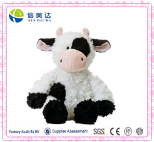 Realistic Styling Plush Sitting Cow Toys/Customized Logo pictures & photos