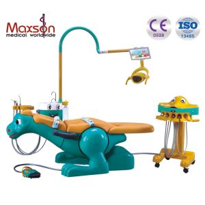 Popular Kids Dinosaur Dental Chair with Movable Instrument Carts