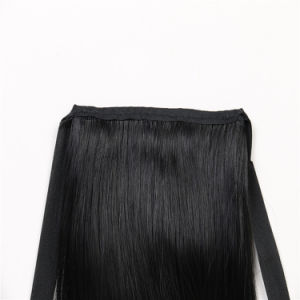 Heat Resistant Synthetic Fiber Weft and Hair Drawstring Ponytail Extension pictures & photos