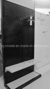 Steel Structure Display Shelf Pegboard Stand pictures & photos