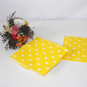 Yellow Dots Paper Napkin Party Favors pictures & photos