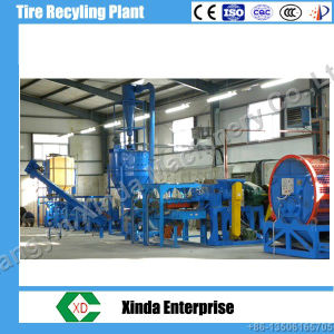 Xinda Tire Recycling Plant Whole Scrap Automatic Tyre Recycling Line pictures & photos