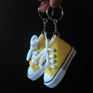 Canvas Key Ring, Promotion Canvas Shoe Keychain pictures & photos