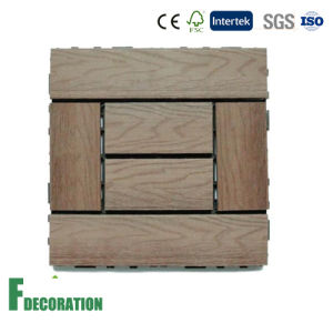 Low Cost Impact Resistance Easy Install Non-Slip Wood Composite Decking Tiles pictures & photos