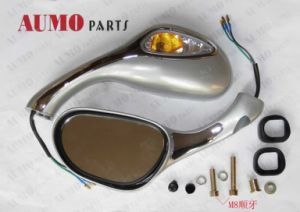 Motorcycle Silver Rear Mirrors for Jonway Yy125t-12A Motorcycle Mirrors pictures & photos