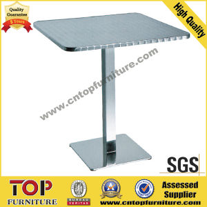 Stainless Steel Square Restaurant Dining Table pictures & photos