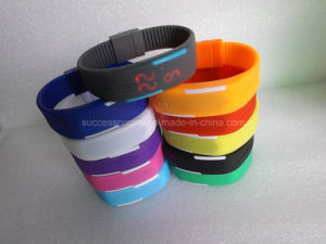 Fashion LED Bracelet Wrist Sports Watch with Customer Logo pictures & photos