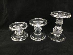 Transparent 3PCS Set Glass Candle Stick pictures & photos