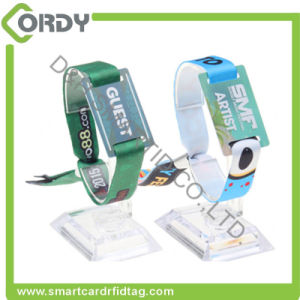 festival event concert payment MIFARE Ultralight C NFC Woven fabric RFID wristband pictures & photos