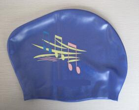 100% Silicone Material Swim Cap for Long Hair /Lady pictures & photos