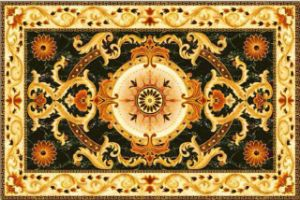 1200X1800mm Golden Silk Ceramic Giazed Flooring Carpet Tile