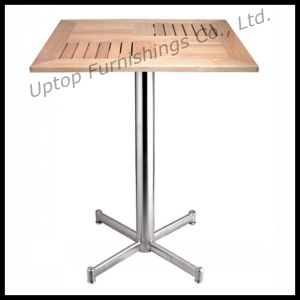 Square Outdoor Aluminium Slat Wood Table (SP-AT334) pictures & photos
