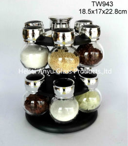 Manual Glass Bottle with Salt Mill/Salt Grinder/Spice Grinder/Pepper Grinder/Pepper Mill pictures & photos