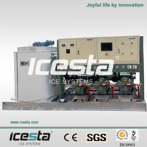 Icesta Stainless Steel Bitzer Compressor Flake Ice Maker Machine pictures & photos