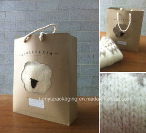 Different Kraft Paper Handle Shopping Bag pictures & photos