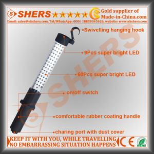 Rechargeable 60 LED Working Light 9 LED Flashlight pictures & photos