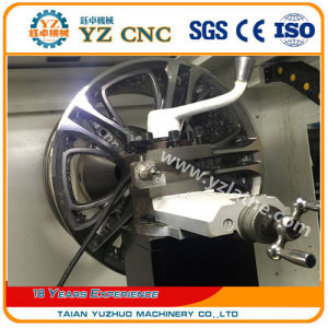 Wheel Surface Diamond Cutting CNC Lathe Machine Wrc28 pictures & photos