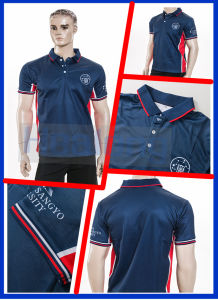 Sublimated Printing 3 Buttons Bulk Men′s Polo T Shirt Sportswear pictures & photos