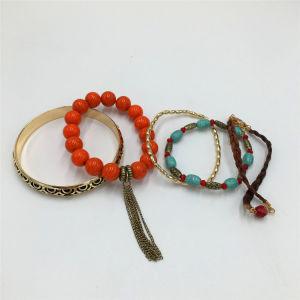 Hot Selling Charm Alloy Bracelet Knitting Bracelet with Beads