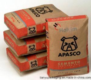 Custom Made Kraft Paper Valve Paper Bag pictures & photos