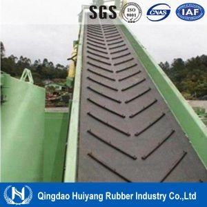 ISO Certify Compani Ep/Cc Canvas EPDM Material Chevron Heat Resisting Conveyor Belt for Concrete pictures & photos