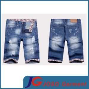 Knee Ripped Fashion Men′s Short Jeans Pant Apparel (JC3281) pictures & photos