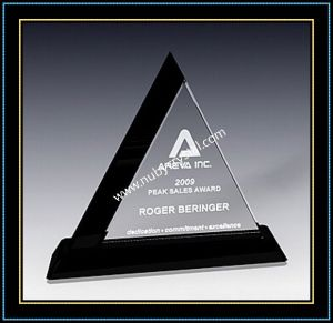"Crystal Award Triangle Plaques 9"" H (NU-CW706) pictures & photos"