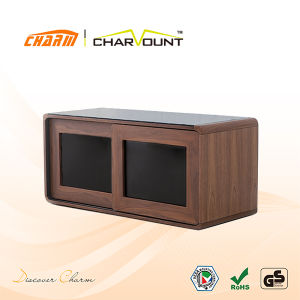 MDF-Glass LCD/LED Hotel TV Stand Home Furniture Design (CT-FTVS-D104) pictures & photos