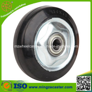 "3""/4""/5""/6""/8"" Black Elastic Rubber Wheel with Ball Bearing pictures & photos"