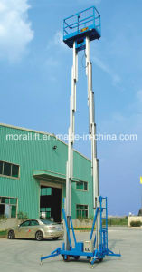 Double Mast Aluminum Alloy Lift Platform/Aerial Work Platform pictures & photos