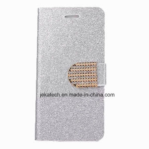 Bling Diamond Leather Case for iPhone 6 Plus pictures & photos