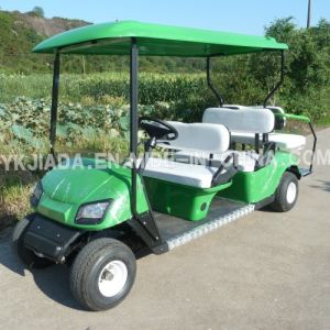 6 Seat Electric Power Sightseeing Golf Car with 2 Back Seat (JD-GE502B) pictures & photos