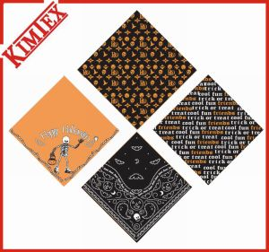 Fashion Festival Cotton Square Promotional Hallowmas Bandana pictures & photos