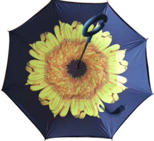 Strong Windproof C Handle Double Layer Inverted Umbrella pictures & photos