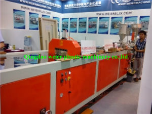 Two Layers PE WPC Decking Profile Co-Extrusion Line with Embossing pictures & photos