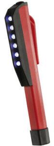 6 X LED Pen-Shaped Pocket Inspection Lamp Torch - Super Light!