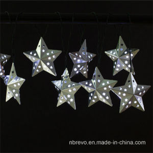 8 LED Solar Powered Star Shape String Light (RS1005) pictures & photos