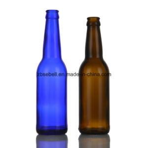 330ml (330cc) Blue Color Beer Bottle Glass Bottle pictures & photos