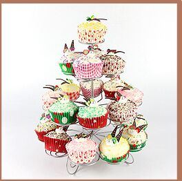 Metal Wedding 4 Tier Cupcake Stand pictures & photos
