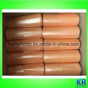 HDPE Refuse Sack Garbage Bags Star Sealed Bottom with Handle pictures & photos