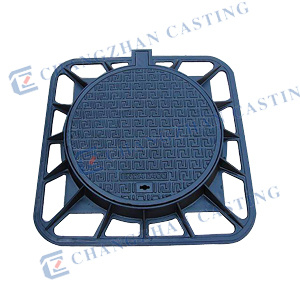 Anti-Theft Non-Slip Manhole Covers with Hinge and Lock pictures & photos